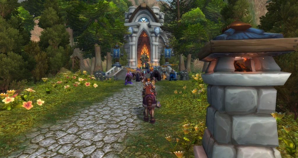 Da Doctas Tour pays their respects to Uther's Tomb in the Western Plaguelands.