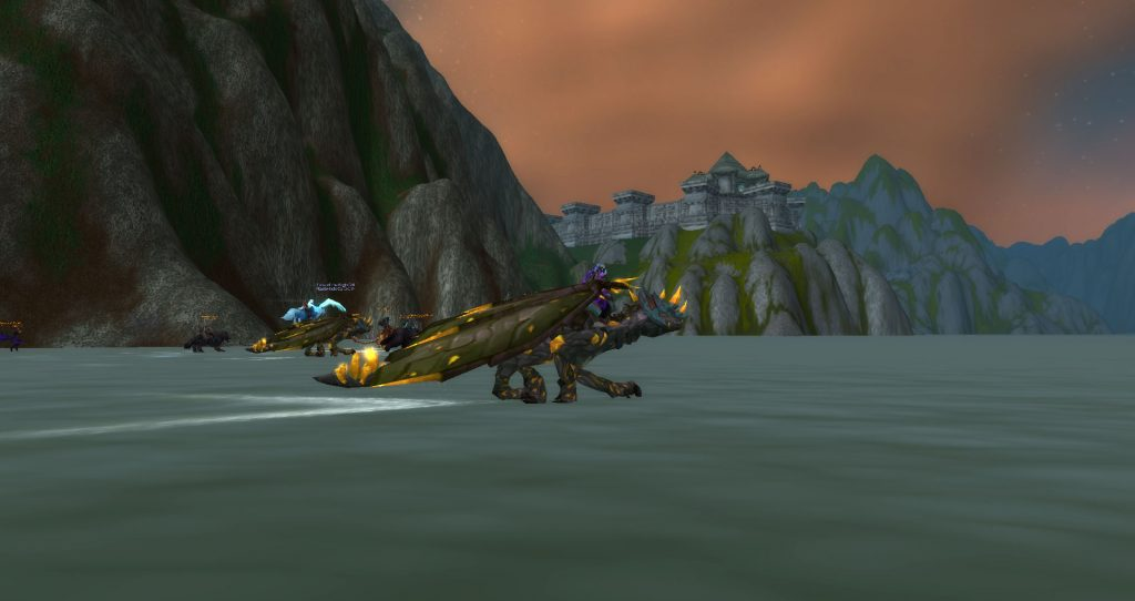 Da Doctas Tour crosses the sea between Arathi and the Wetlands, and can see Stromgarde from the rear.