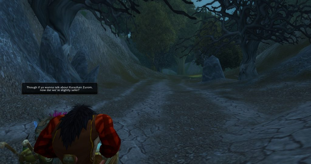 Da Doctas Tour pause at the border between Deadwind Pass and Duskwood