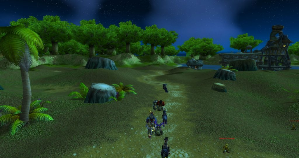 Da Doctas Tour runs past the Venture Company Base Camp in Northern Stranglethorn