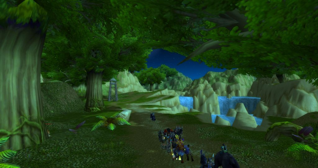 Da Doctas Tour approaches the giant sinkhole in Stranglethorn