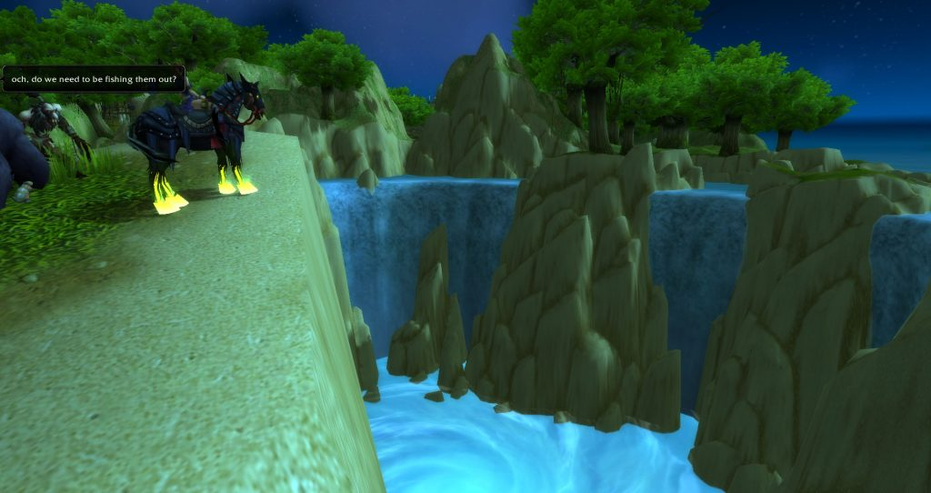 Da Doctas Tours overlooks the giant sinkhole of Stranglethorn