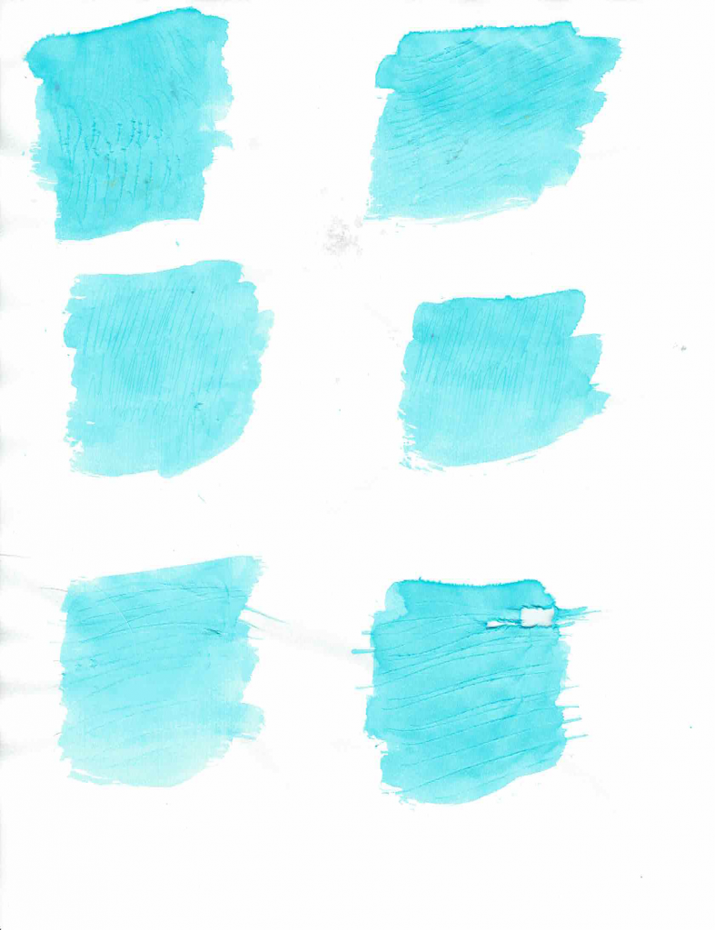 watercolor blobs using the scratch method