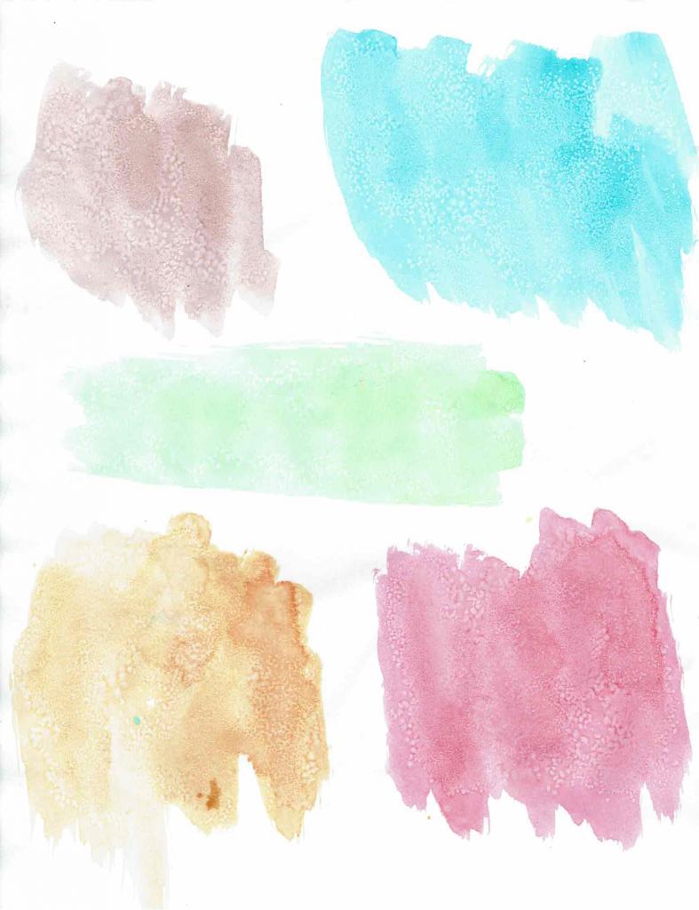 watercolor blobs using the salt method